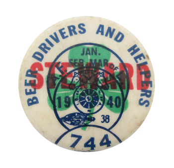 Beer Drivers and Helpers Club Button Museum