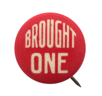 Brought One Red Club Button Museum