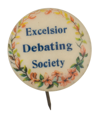 Excelsior Debating Society Club Button Museum