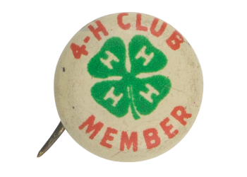 4-H Club Member Club Button Museum