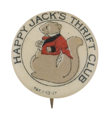Happy Jack's Thrift Club Club Button Museum