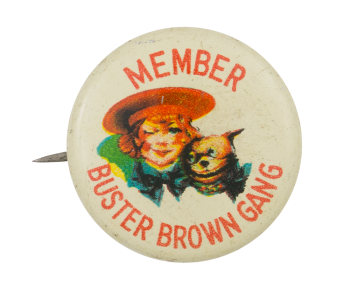 Member Buster Brown Gang Club Button Museum