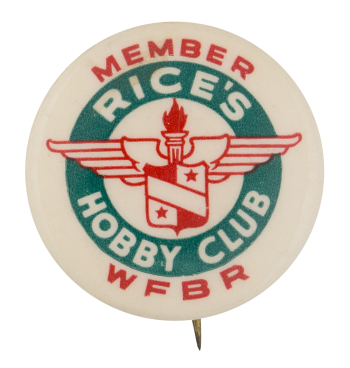 Rice's Hobby Club Club Button Museum