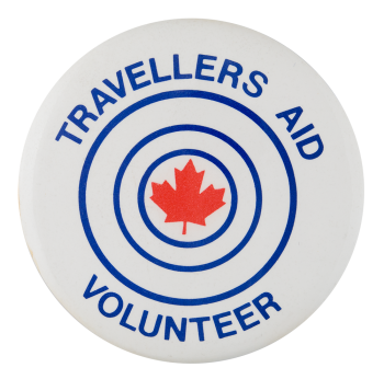 Travelers Aid Volunteer Club Button Museum