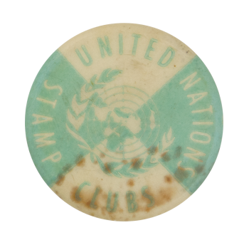 United Nations Stamp Club Club Political Button Museum