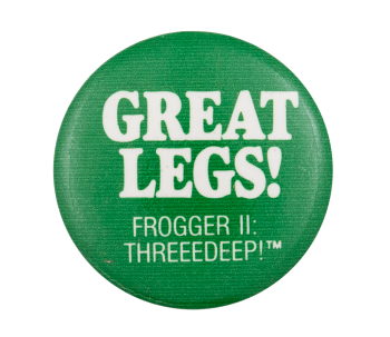 Great Legs! Frogger II Entertainment Button Museum