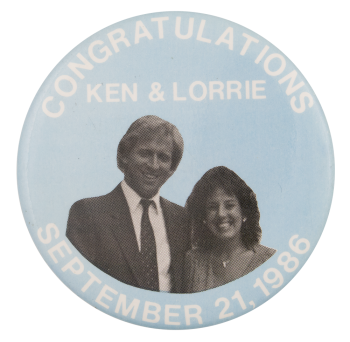Congratulations Ken & Lorrie Event Button Museum