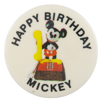 Happy Birthday Mickey Events Button Museum