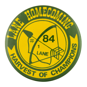 Lane Harvest of Champions Events Button Museum