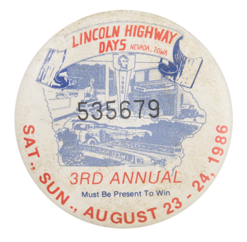 Lincoln Highway Days Event Button Mueum