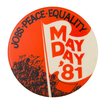 May Day '81 Event Button Museum