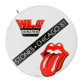 Rolling Stones Chicago 1981 Event Button Museum