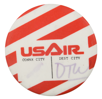 US Air Detroit Event Button Museum
