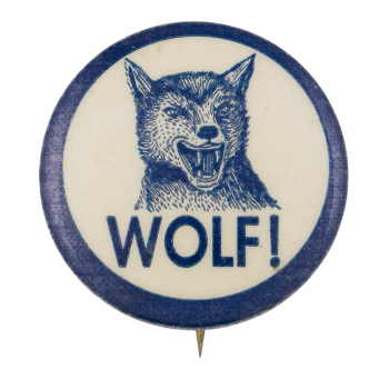 Wolf Humorous Button Museum