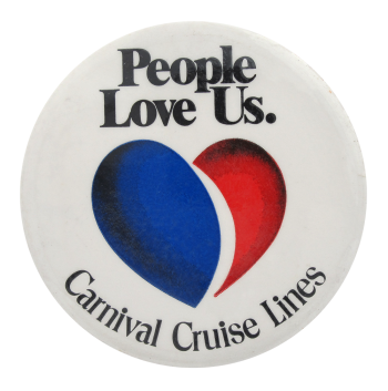 Carnival Cruise Lines Advertising Button Museum