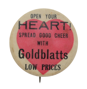 Goldblatts Open Your Heart I heart Button Museum