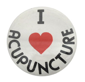 I Heart Acupuncture button back Button Museum