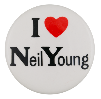 I Love Neil Young I Heart Button Museum