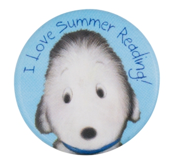 I Love Summer Reading Event Button Museum