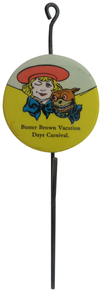 Buster Brown Hook Advertising Button Museum
