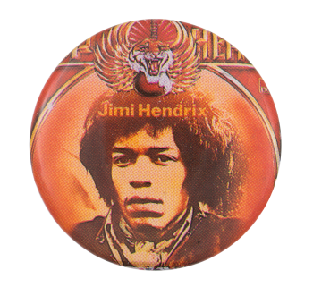 Jimi Hendrix Winged Tiger Music Button Museum