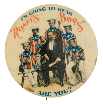 Roney's Boys Stars and Stripes Music Button Museum