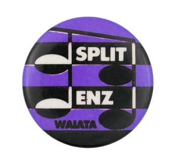 Split Enz Waiata Purple Music Button Museum
