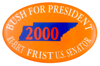 Bush for President Re-Elect Frist Political Button Museum