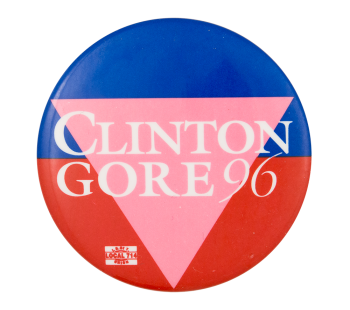 Clinton Gore 96 Political Button Museum