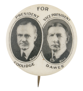 Coolidge Dawes Political Button Museum
