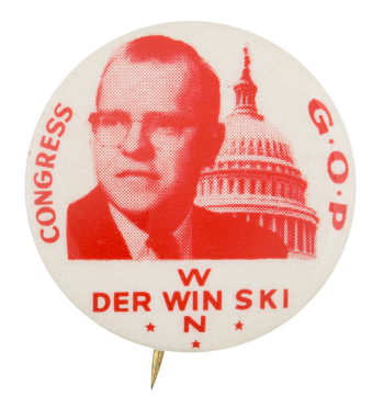 Derwinski Congress G.O.P. Political Button Museum