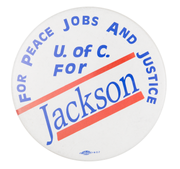 For Peace Jobs and Justice Political Button Museum