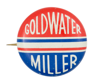 Goldwater Miller Red White and Blue Political Button Museum