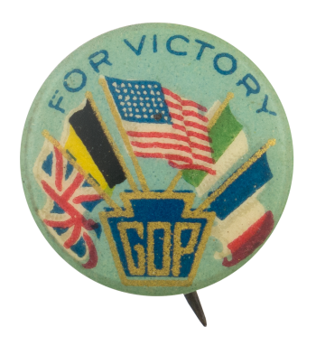 GOP For Victory Political Button Museum
