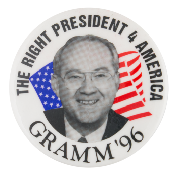 Gramm '96 Political Button Museum