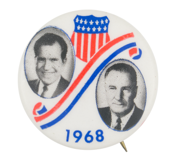 Nixon Red White and Blue Political Button Museum