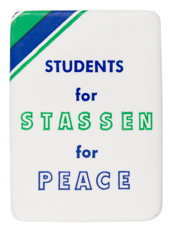 Students for Stassen Political Button Museum