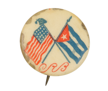 United States and Cuba Flags Political Button Museum