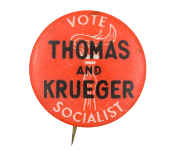 Vote Socialist Political Button Museum