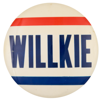 Willkie Red and Blue Two Political Button Museum