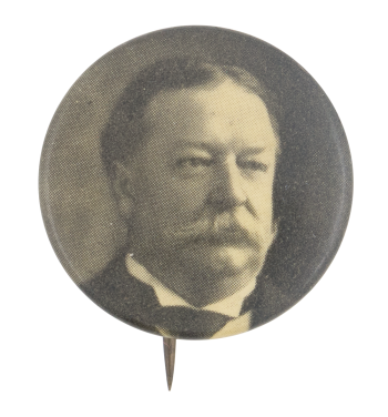 William Howard Taft Black and White Portrait Political Button Museum