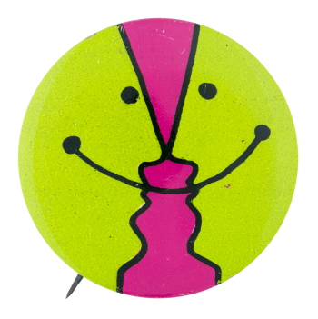 Green and Pink Smiley Smileys Button Museum