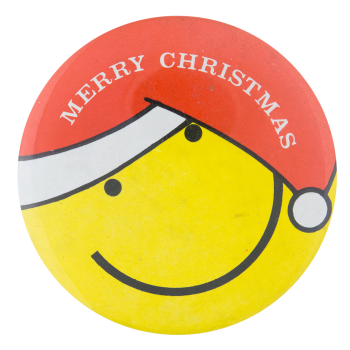 Merry Christmas Smiley Smileys Button Museum