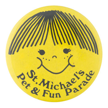 St. Michael's Pet and Fun Parade Smileys Button Museum