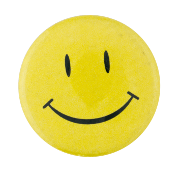 Nasty Gal Yellow Smiley Smiley Button Museum