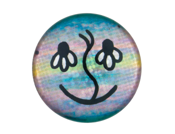 Flower Eyes Smiley Smileys Button Museum