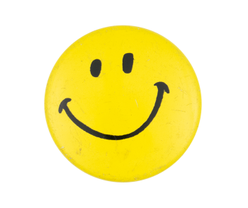 Yellow Smiley 2 Smileys Button Museum