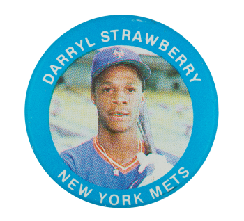 Darryl Strawberry New York Mets Sports Button Museum