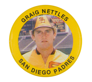 Graig Nettles San Diego Padres Sports Button Museum