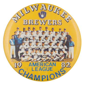 Milwaukee Brewers Champions Sports Button Museum